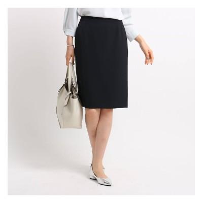 【インディヴィ/INDIVI】 【マシンウォッシュ】ポリツイルタイトスカート