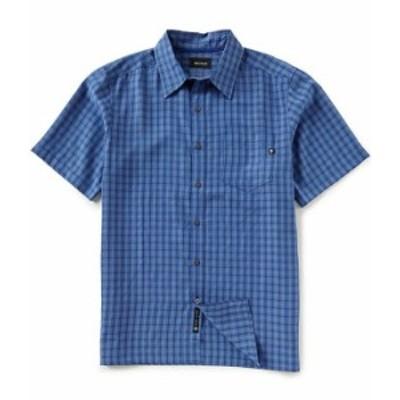 マーモット メンズ シャツ トップス Eldridge Check Short-Sleeve Recycled Materials Woven Shirt Varsity Blue