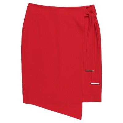 GIORGIO GRATI ひざ丈スカート レッド 40 レーヨン 64% / アセテート 33% / ポリウレタン 3% ひざ丈スカート