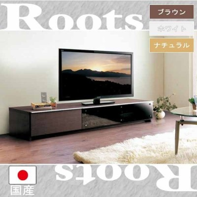 テレビボード テレビ台 TV台 TVボード ローボード 幅160.3(ルーツM 160TVボード)フルオープンスライドレール ブラック//ホワイト リビング 収納