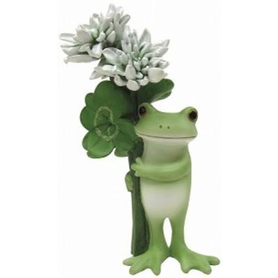 Copeau コポー クローバーとカエル  雑貨 小物 オブジェ カエル 置き物 置物 オブジェ 蛙 フロッグ FROG ガーデン雑貨 インテリア雑貨