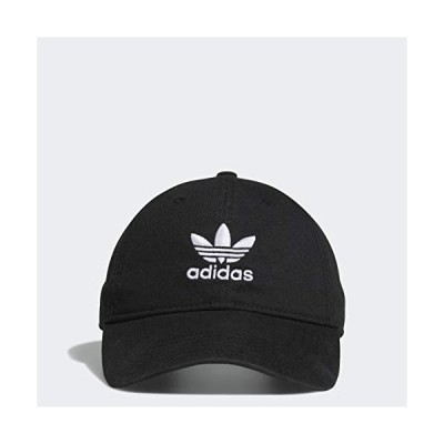 adidas Originals Men's Relaxed Strapback Cap, Black/White, ONE SIZE【並行輸入品】