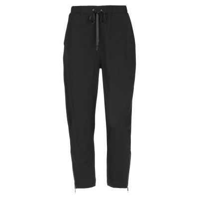 LANACAPRINA パンツ ブラック 44 コットン 95% / 伸縮繊維 5% パンツ