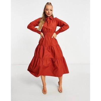 ユニーク21 UNIQUE21 レディース ワンピース ティアードドレス ワンピース・ドレス Unique21 Tiered Smock Dress ブラウン