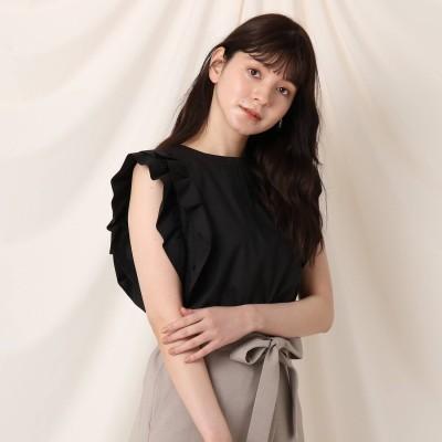 クチュール ブローチ Couture brooch 【再入荷・新色追加】フリルスリーブブラウス (ブラック)