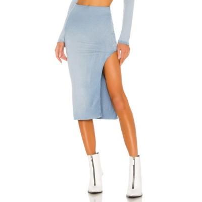 コットンシチズン COTTON CITIZEN レディース ひざ丈スカート スリットスカート スカート x REVOLVE Melbourne Midi Skirt With Slit Desert Sky Dawn Blue