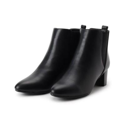 grove/グローブ シンプルサイドゴアブーツ ブラック(019) 35(23.5cm)