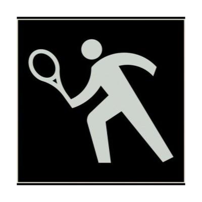 JISピクトサイン テニスコート 150角 品番:6300001283 グリーンクロス