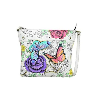 Anna by Anuschka Convertible Tote Bag-Leather, Floral Paradise