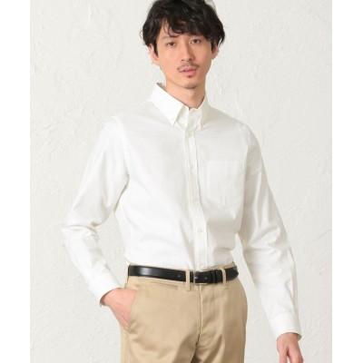【エス エッセンシャルズ】 超長綿オックスフォード ボタンダウンシャツ メンズ ホワイト 48(L) S.ESSENTIALS