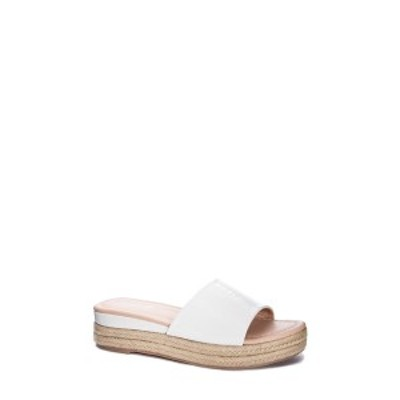 チャイニーズランドリー レディース サンダル シューズ Simora Platform Slide Sandal WHITE