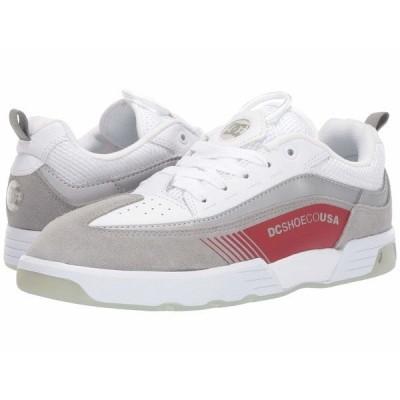 ディーシー スニーカー シューズ メンズ Legacy 98 Slim White/Grey/Red