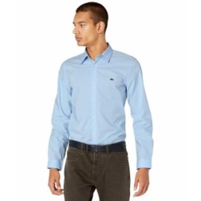 ラコステ メンズ シャツ トップス Slim Fit Casual Solid Extensible Popeline Shirt Overview
