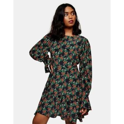 トップショップ レディース ワンピース トップス Topshop floral print tea mini dress in multi