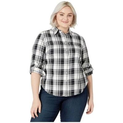 ラルフ ローレン LAUREN Ralph Lauren レディース ブラウス・シャツ 大きいサイズ トップス Plus Size Classic Cotton Shirt Polo Black/White