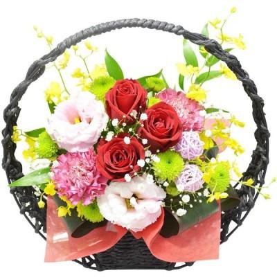 和風アレンジメント 紅月(こうげつ) お花の延命剤付 還暦 祝い 誕生日 プレゼント 生花 退職祝い アレンジフラワー