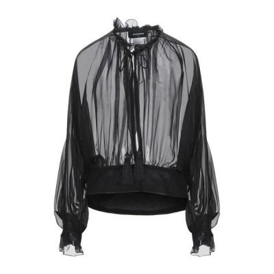 DSQUARED2 シルクシャツ&ブラウス  レディースファッション  トップス  シャツ、ブラウス  長袖 ブラック