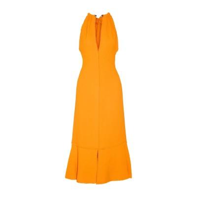 プロエンザスクーラー PROENZA SCHOULER 7分丈ワンピース・ドレス オレンジ 10 レーヨン 100% 7分丈ワンピース・ドレス