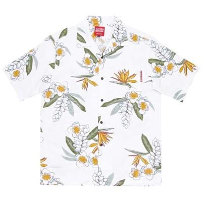 かりゆしウェア 沖縄 アロハシャツ MANGO HOUSE リゾート 結婚式 お揃い ペア 151004 ジャガード月桃ストレチア メンズ
