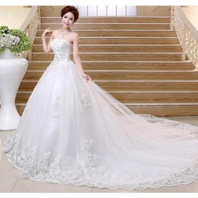 送料無料 ドレス ウェディングドレス ロング丈 フォマールドレス パーティー 二次会 結婚式 大きいサイズ