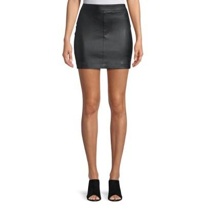 ヘルムート ラング レディース スカート ボトムス Straight Leather Mini Skirt