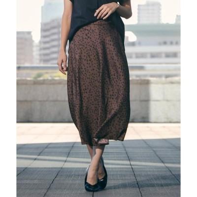 LAUTREAMONT / ロートレアモン ドットライクな小さめレオパードプリントスカート
