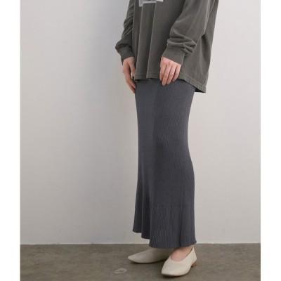【マドモアゼル ロペ/MADEMOISELLE ROPE'】 【セットアップ対応】ERISILK リブロングニットスカート