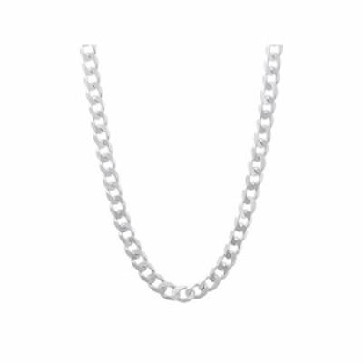 ネックレス Verona Jewelers 4.5mm イタリア製 925スターリングシルバー クラシック カーブ キューバチェーンネックレス シルバーカーブ