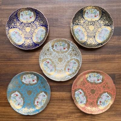 有田焼 ベルサイユ ケーキ皿(5色)