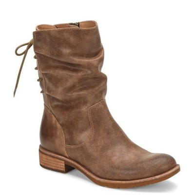 ソフト レディース ブーツ・レインブーツ シューズ Sharnell Low Waterproof Leather Block Heel Boots