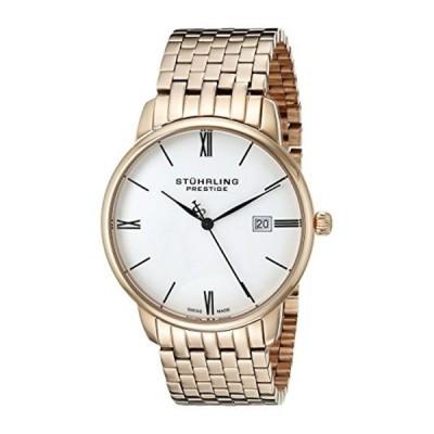 """ストゥーリング オリジナル Stuhrling Original メンズ 腕時計 時計 Stuhrling Prestige Men's 307B.33442 """"Prestige""""16k Rose Gold-Layered Watch"""