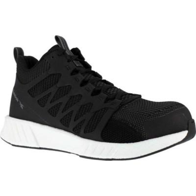 リーボック ブーツ&レインブーツ シューズ メンズ RB4316 Fusion Flexweave Work Composite Toe Shoe (Men's) Black Ultraknit/Flexweave Fabric