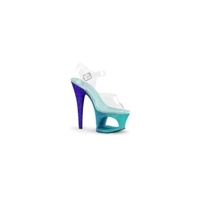 【即納】PLEASER Cut-Out Platform Ankle Strap Sandal【Pleaser シューズ(サンダル,ブーツ)】【PL-SAN- MOON708OMBRE/C/AQ-BL】
