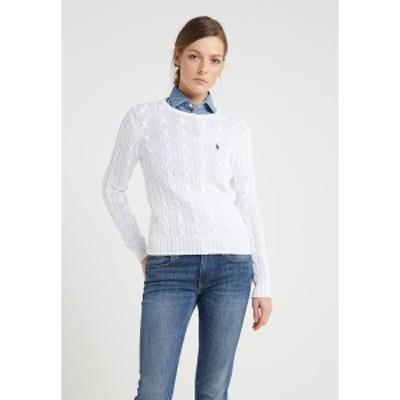 ラルフローレン レディース ニット&セーター アウター CLASSIC - Jumper - white white