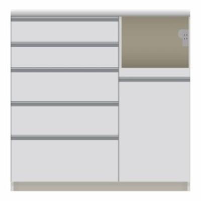家具 家電が使いやすいハイカウンター奥行45cm キッチンカウンター高さ101cm幅100cm/パモウナVQL-S1000R 下台 VQR-S1000R 下台 549209