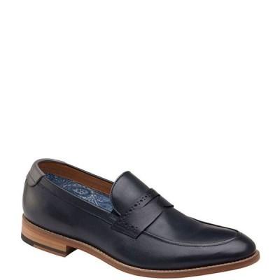 ジョンストンアンドマーフィー メンズ スリッポン・ローファー シューズ Men's Milliken Leather Penny Loafers