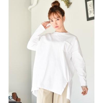 tシャツ Tシャツ シンプルポケット付きロンT