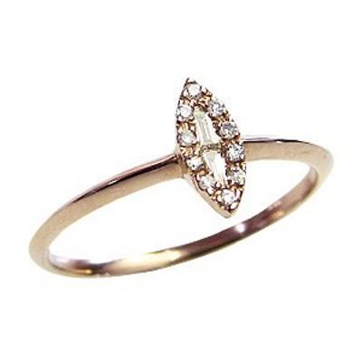 ピンキーリング ダイヤモンドリング 指輪 ピンクゴールド K18 指輪 おしゃれ