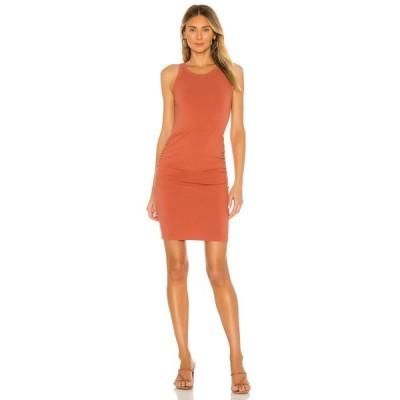 モンロー MONROW レディース ワンピース ワンピース・ドレス Narrow Tank Shirred Dress Spice