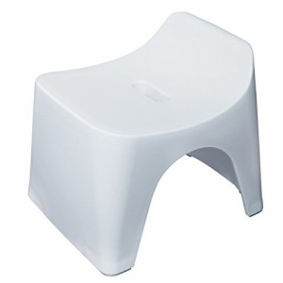 【送料無料】シンカテック ヒューバス 風呂椅子H20 座面高さ20cm ホワイト HU-W