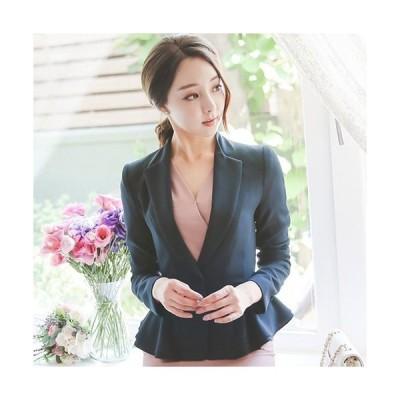 ジャケット レディース ハーフ丈 きれいめ 通勤 30代 40代 50代 ファッション 高級感 上品 秋 赤 紺 青