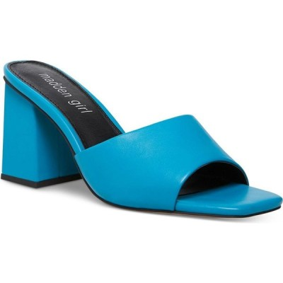 マッデン ガール Madden Girl レディース サンダル・ミュール シューズ・靴 Goldenn Block-Heel Mules Blue