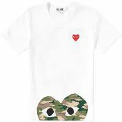 Comme des Garcons Play レディーストップス White & Camo Comme des Garcons Play Wom