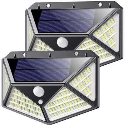 センサーライト、ソーラーライト 屋外 人感センサー、自動誘導照明、4面発光省エネ屋外照明防犯灯、中庭、廊下、ガレージ、LED、ツーピーススーツ
