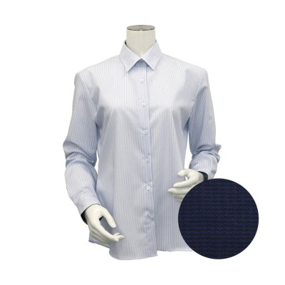 【トーキョーシャツ】 シャツ 長袖 形態安定 レギュラー衿 ピマ綿100% レディース ウィメンズ レディース ブルー S TOKYO SHIRTS