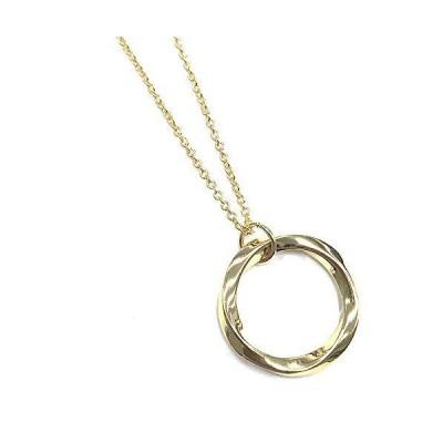 ツイスト リング ネックレス メンズ 真鍮 ひねり チェーンネックレス ゴールド swpn-004a