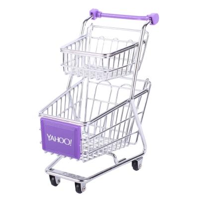 Yahoo! 迷你收納購物推車(雙層)