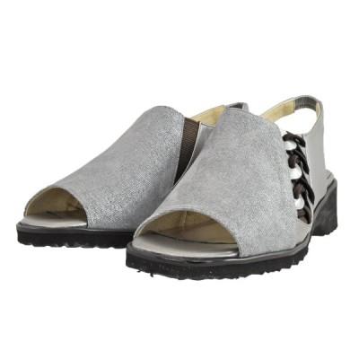 レディース 靴 サンダル ローズ 日本製 オープントゥ バックストラップサンダル 4E 送料無料 グレー ROSE7372GY