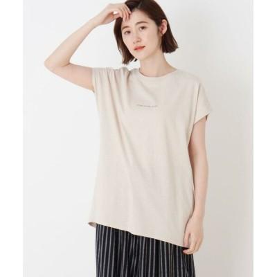 SHOO・LA・RUE/シューラルー ロゴゆるフレンチTシャツ ライトベージュ(051) 03(L)