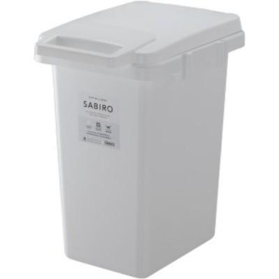 サビロ 連結ワンハンドペール 33J RSD-181WH | ゴミ箱 キッチン 分別 フタ付き 30リットル ダストボックス かわいい 北欧 一人暮らし